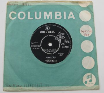 "Animals (The) I'M CRYING 1964 UK 7"" NEAR MINT AUDIO"